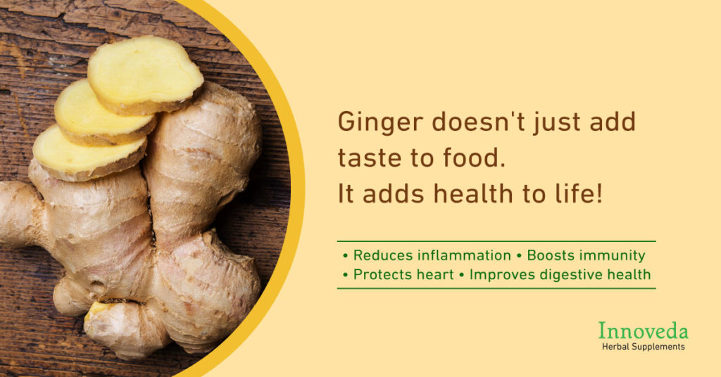 Benefits of Ginger Zingiber officinale